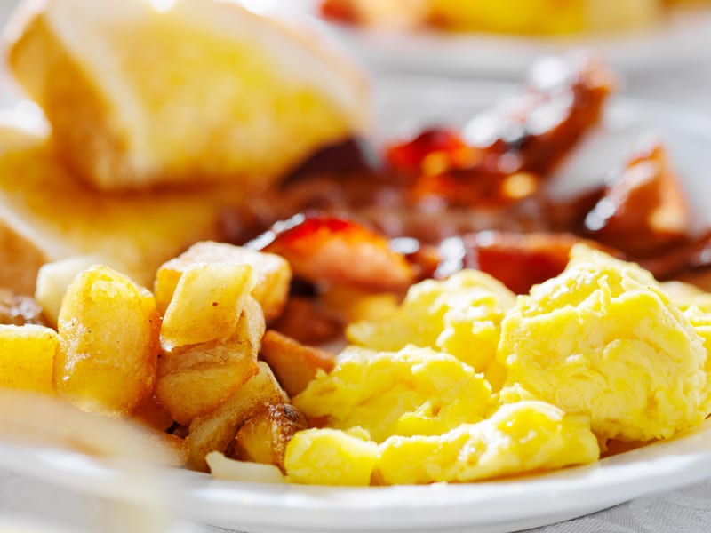 A full course breakfast is included with every room rate at Emily's Bed and Breakfast