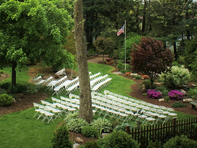 Emily's Bed and Breakfast can host private events indoor and outdoors.
