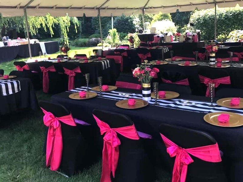 Emily's has picturesque outdoor event space for your bridal shower or baby shower.