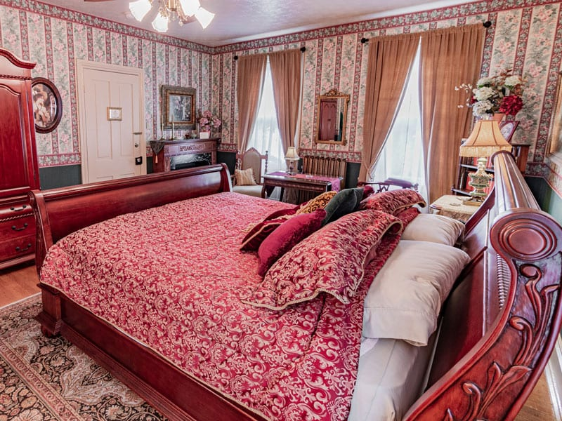 Catherine's Quarters is Emily's largest guest room with a separate private bathroom.