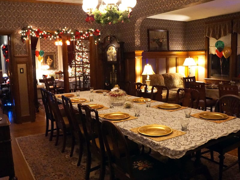 Emily's Bed and Breakfast can accommodate your next intimate dinner party!